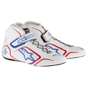 Bottines FIA Alpinestars Tech 1-Z - Blanc/Rouge/Bleu