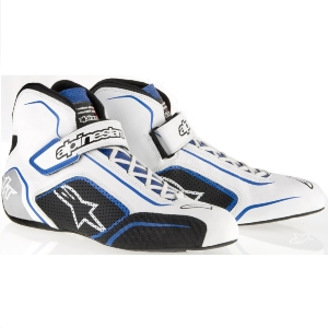 Bottines FIA Alpinestars Tech 1-T - Blanc/Bleu