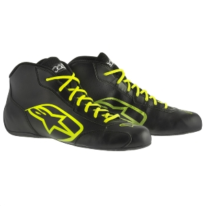 Bottines Karting Alpinestars Tech 1-K Start - Noir/Jaune fluo