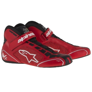Bottines Karting Alpinestars Tech-1 KX - Rouge/Noir/Blanc