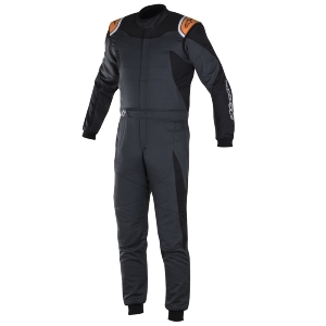 Combinaison FIA Alpinestars GP Race - Anthracite/Noir/Orange fluo