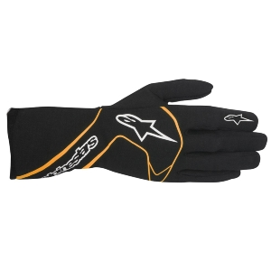 Gants FIA Alpinestars Tech-1 Race - Noir/Orange fluo