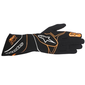 Gants Karting Alpinestars Tech-1 KX - Noir/Orange fluo