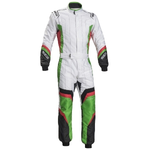 Combinaison Karting Sparco X-Light KS-7 - Blanc/Vert