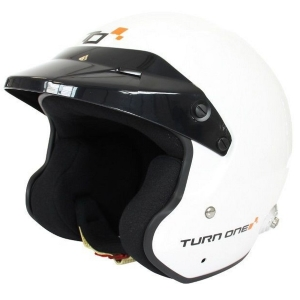 Casque FIA Turn One Jet-RS 8859-2015 - Blanc