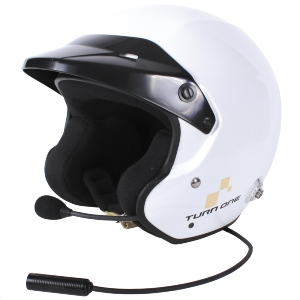 Casque FIA Turn One Jet-RS (Intercom Stilo WRC) - Blanc
