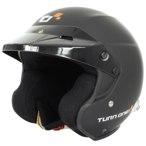 Casque FIA Turn One Jet-RS 8859-2015 - Noir mat