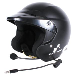 Casque FIA Turn One Jet-RS (Intercom Peltor) - Noir mat