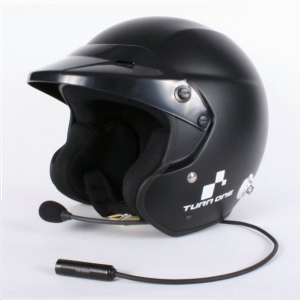 Casque FIA Turn One Jet-RS (Intercom Stilo WRC) - Noir mat