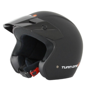 Casque jet Turn One Track - Noir